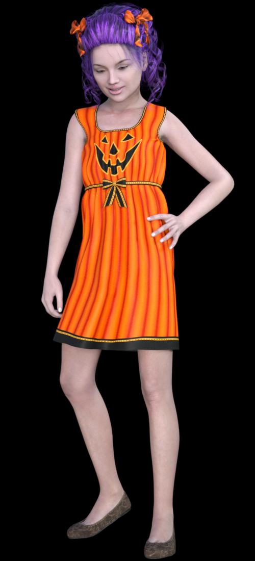 Tubes fillette d'Halloween (image-render)