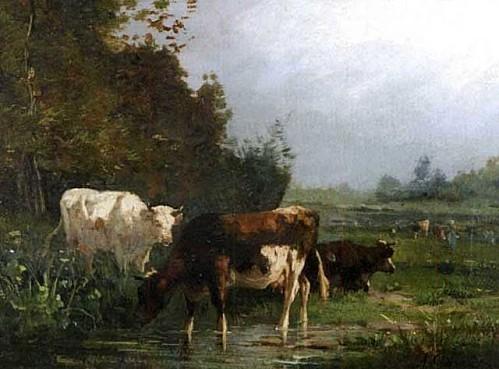 Cortes André vaches à la mare