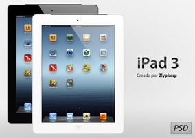 Apple iPad 3 PSD by Zlypkorp