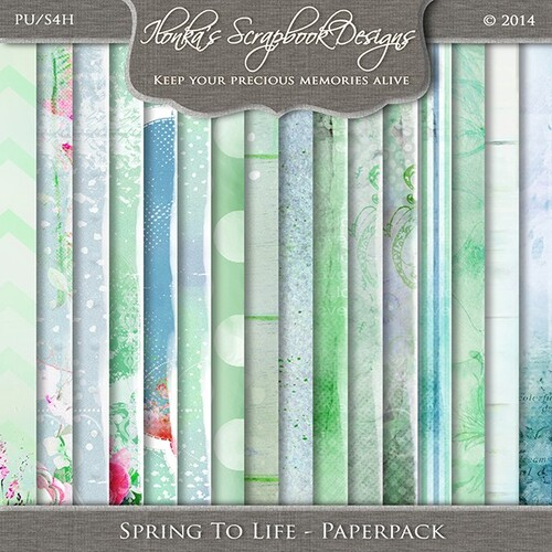 Spring To Life by Ilonka Scrapbook Designs