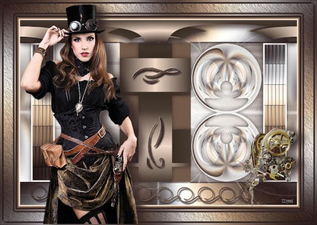ST0002 - Tube femme steampunk