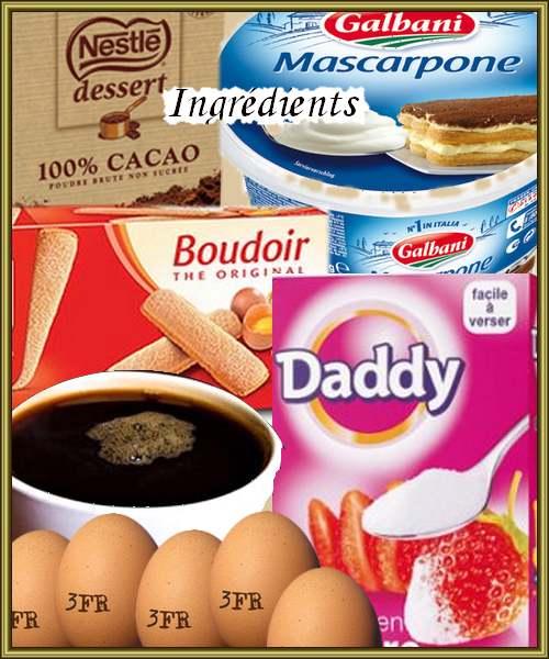 Recette de cuisine : Tiramisu au chocolat noir