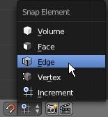 Cliquer sur Edge dans le menu