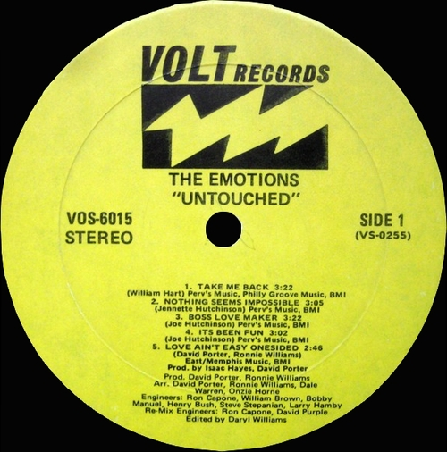 "The Emotions ‎: Album "" Untouched "" Volt ‎Records VOS-6015 [ US ]"