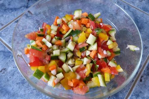 Petits flans de légumes .