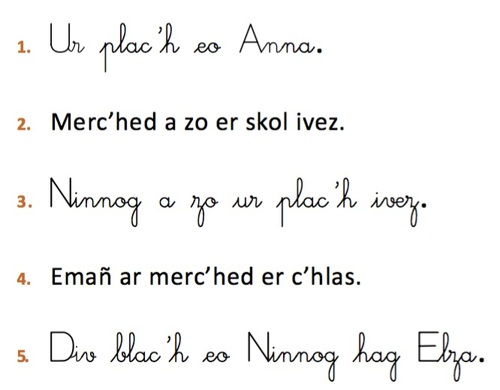 Je lis les nombres de 11 à 20 en breton