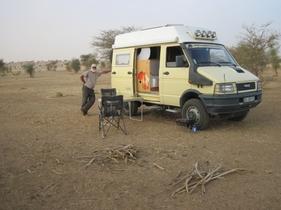 034 Bivouac dans le désert mauritanien