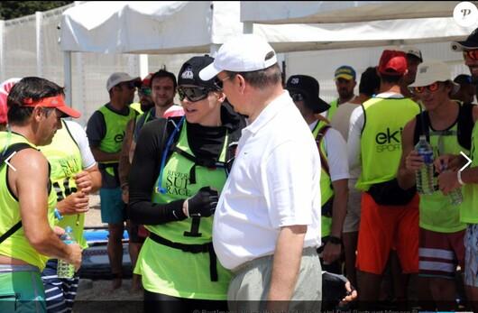 La  princesse Charlene a la  riviera super race (14 kms)