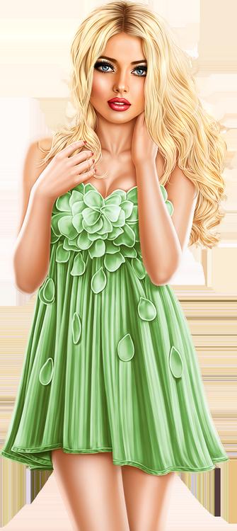 Tubes Femmes en vert