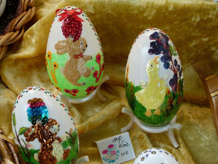 Salon des oeufs décorés avec mention spéciale 2015