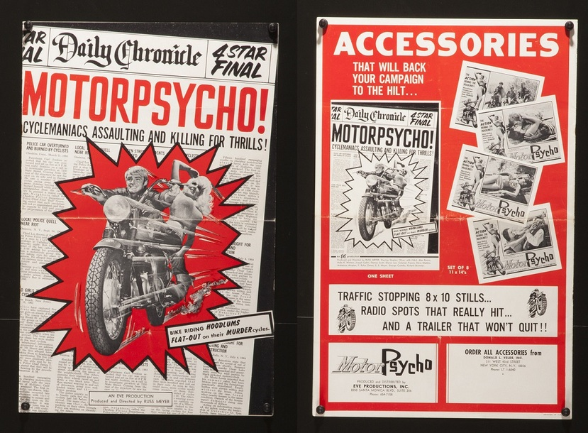 MOTORPSYCHO BOX OFFICE USA 1965