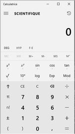 La calculatrice sous Windows 10
