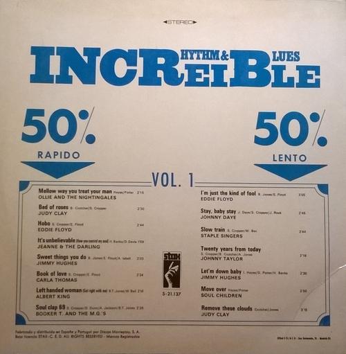 "Série "" Incroyable Rhythm & Blues Vol 2 "" Stax Records 69018 [ FR ]"