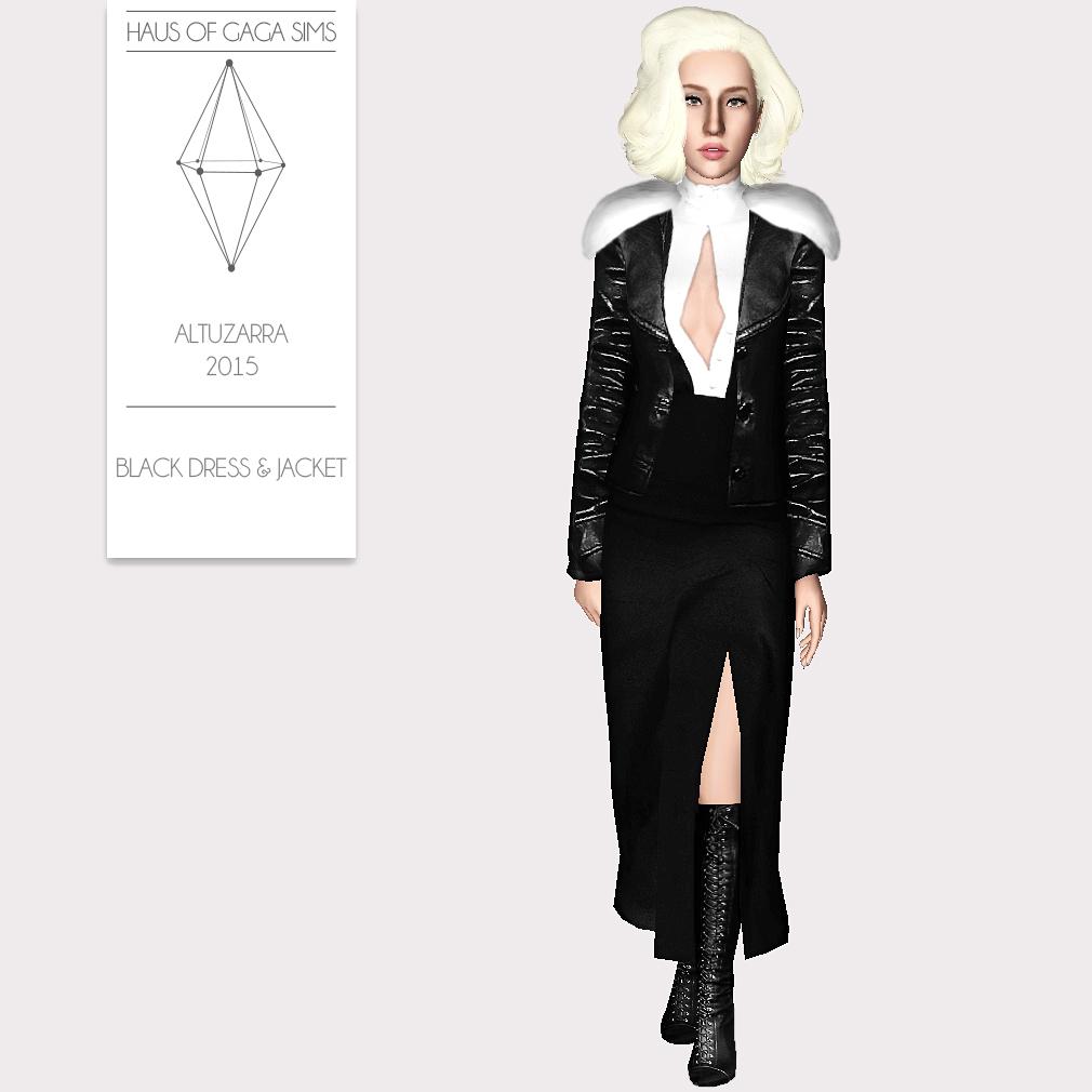 ALTUZARRA 2015 BLACK DRESS & JACKET
