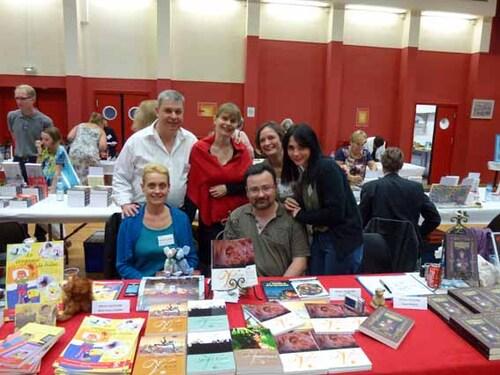 Salon du livre de Rambouillet, sur le stand des éditions Volipière, en septembre 2012