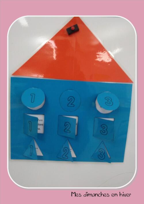 Faire des jeux pour la classe : la maison des formes