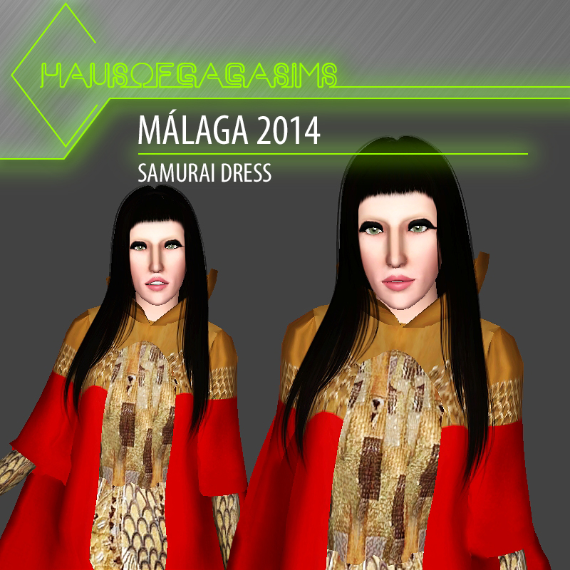MÁLAGA 2014 SAMURAI DRESS