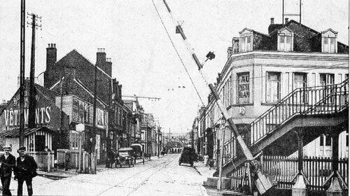 La rue des Fontinettes dans l'entre-deux-guerres
