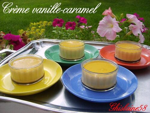 Crème vanille-caramel