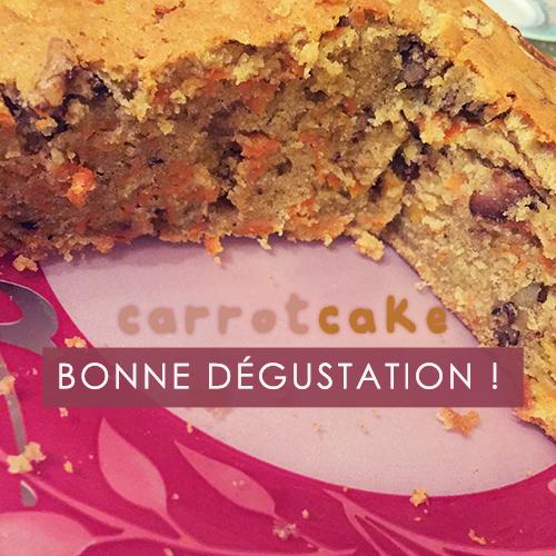 RECETTE : Carrot cake aux noix !