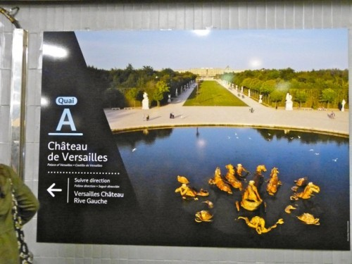 affiche métro Versailles