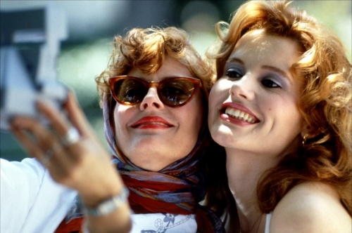 thelma et louise susan sarandon geena davis make up