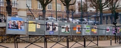 Affiche politique Régionales école