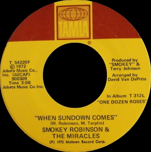 """Smokey Robinson & The Miracles : Album """" Flying High Together """" Tamla Records T-318L [ US ] le 27 Juillet 1972"""