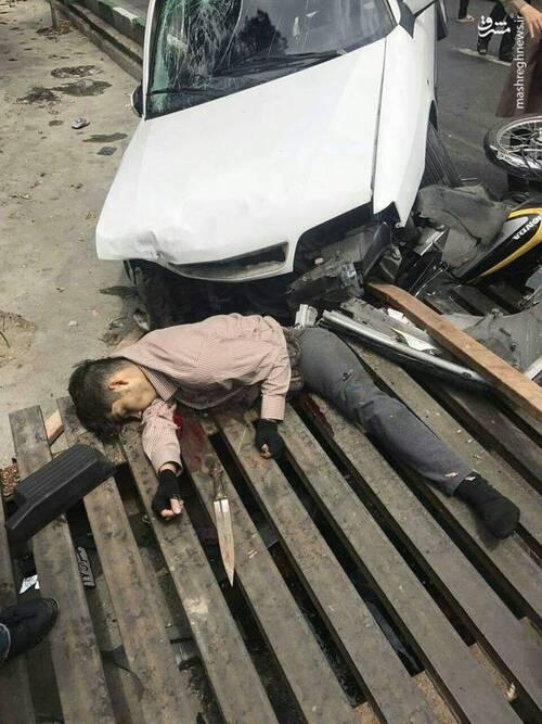 زورگیری که در خیابانهای تهران شکار چرخهای یک زانتیا شد