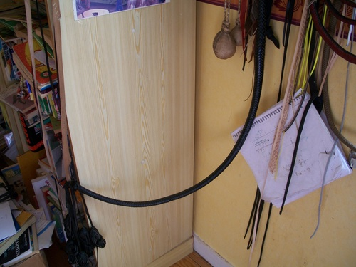 10ft black cowhide bullwhip