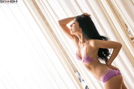 WEB Gravure : ( [UNO x Girlz HIGH!] - | もしも三田羽衣が彼女になったら (VR彼女編) ~ Gallery No.01 - Vol.03 : 紫ビキニ | Ui Mita/三田羽衣 )
