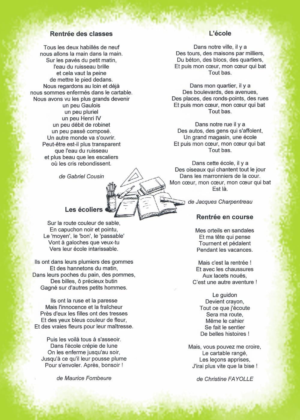 Hervorragend Premières poésies de l'année - Blog des CM2 B de l'année 2013-2014 XN85