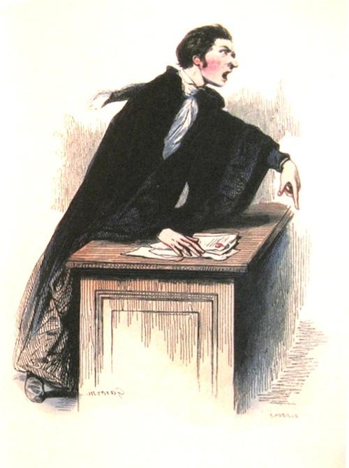 L'étudiant, le notaire et l'avocat, par Paul Gavarni (1804-1866)
