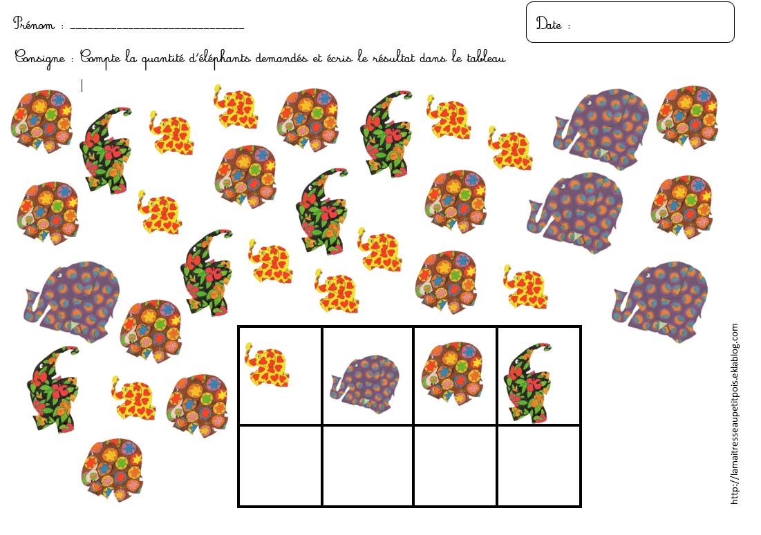 Coloriage Elmer Maternelle.Des Cartes A Compter Elmer La Maitresse Au Petit Pois