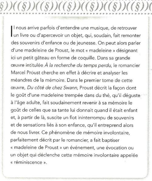 La Madeleine de Proust....