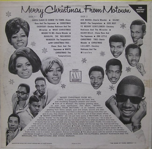 "Various Artists : Album "" Merry Christmas From Motown "" Motown Records MS 681 [ US ]"