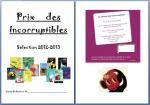 Les incorruptibles Prix 2013 - fiches de lecture