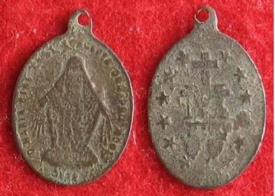 médaille religieuse en bronze