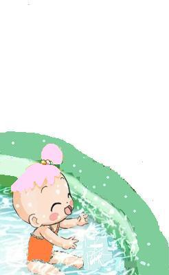 Bébé juanna dans une piscine