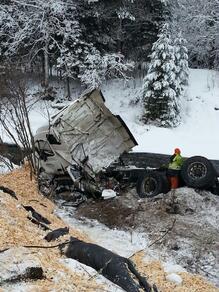 Un autre Accident de camion versus une auto