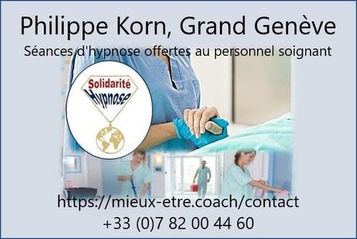 Solidarité hypnose offerte aux soignants, Philippe Korn, Grand Genève
