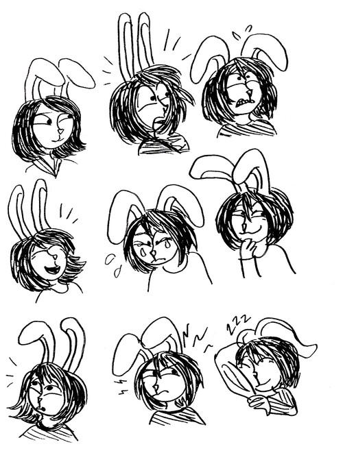 Souris et lapin croqués