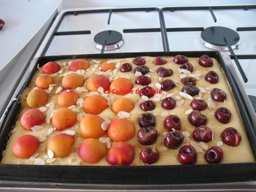 Carrés aux abricots et cerises