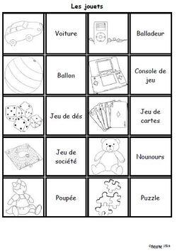 Jeux de paires pour Français Langue Etrangère (FLE)