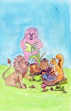 """""""Les Animots Rigolos"""". Couverture d'un livre : son histoire de A à Z..."""