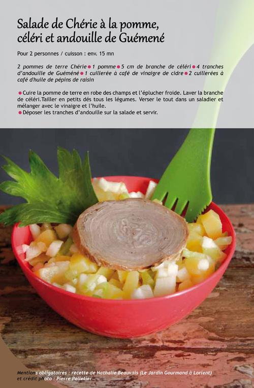 Salade de Chérie à la pomme, céleri et andouille de Guémené