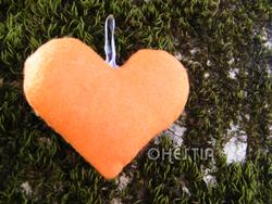 Coeur orange dos