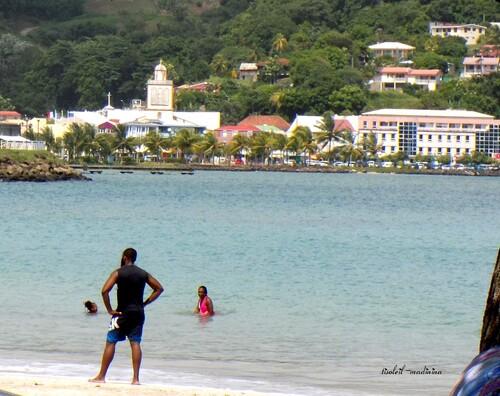 Vu sur la Trinité depuis le plage de Raisiniers