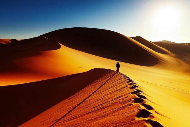 Sommet de la dune découverte de l'autre versant