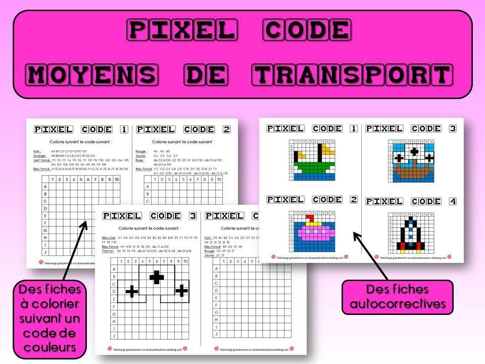 Pixel Art Les Moyens De Transport La Classe De Ludivine